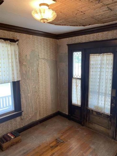 Bedroom featured at 406 S Adams St, Junction City, KS 66441