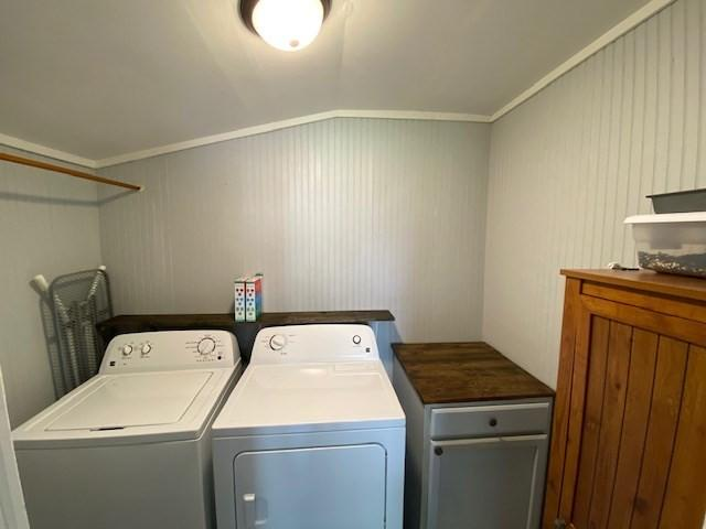Laundry room featured at 500 Long Fork Rd, Kimper, KY 41539