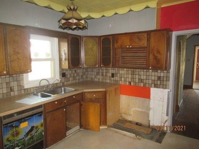Kitchen featured at 222 Main St, Burdick, KS 66838