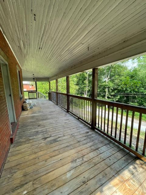 Porch featured at 99 S Pickering St, Brookville, PA 15825