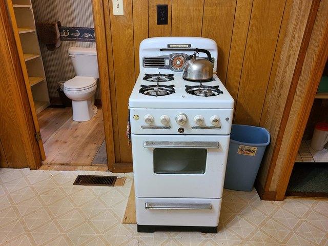 Kitchen featured at 98 High St, Vanceboro, ME 04491