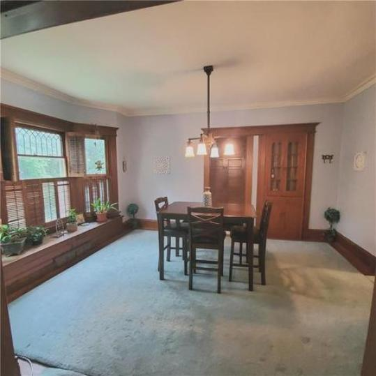 Dining room featured at 6137 Wright St, Wolcott, NY 14590