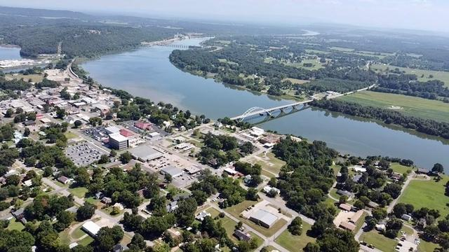 Water front featured at 1008 and 1100 Gibson St, Ozark, AR 72949