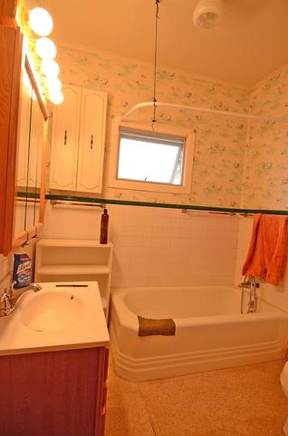 Bathroom featured at 502 S Monroe St, Streator, IL 61364
