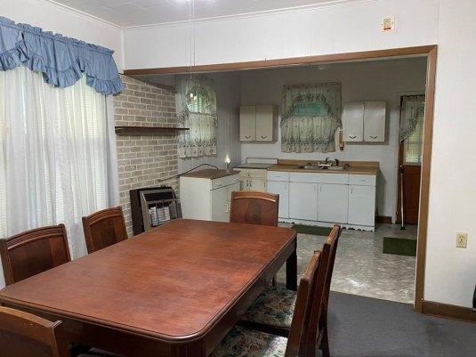 Dining room featured at 5740 Garden Creek Rd, Rowe, VA 24646