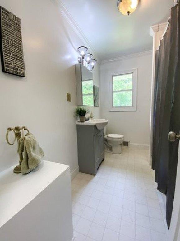 Bathroom featured at 17296 Martinsville Hwy, Axton, VA 24054
