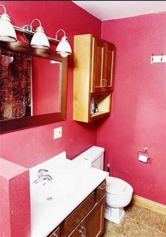 Bathroom featured at 519 Main St, Bern, KS 66408