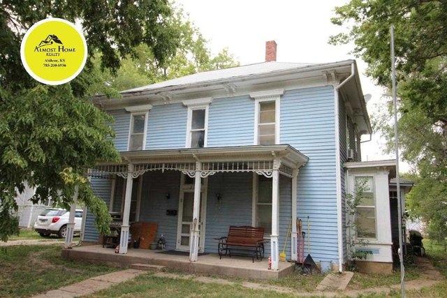 Porch featured at 217 NE 4th St, Abilene, KS 67410