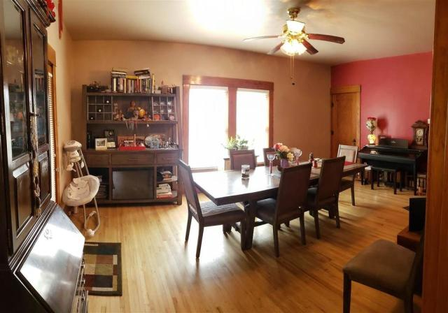 Dining room featured at 321 E 1st St, Bison, KS 67520
