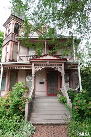 Porch featured at 624 N Cherry St, Galesburg, IL 61401