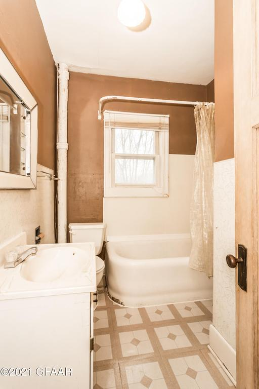 Bathroom featured at 107 Riverside Dr, Stephen, MN 56757