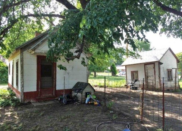 Yard featured at 217 N Main St, Argonia, KS 67004