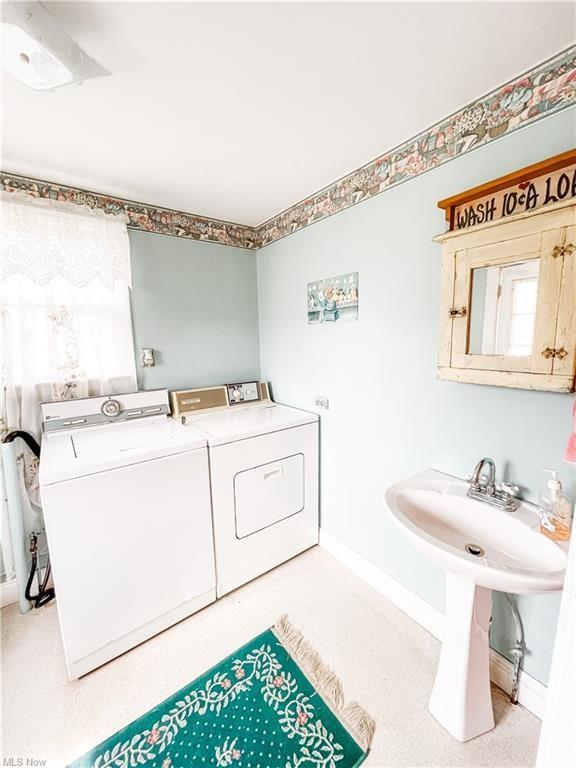 Bathroom featured at 874 W Main St, Adena, OH 43901