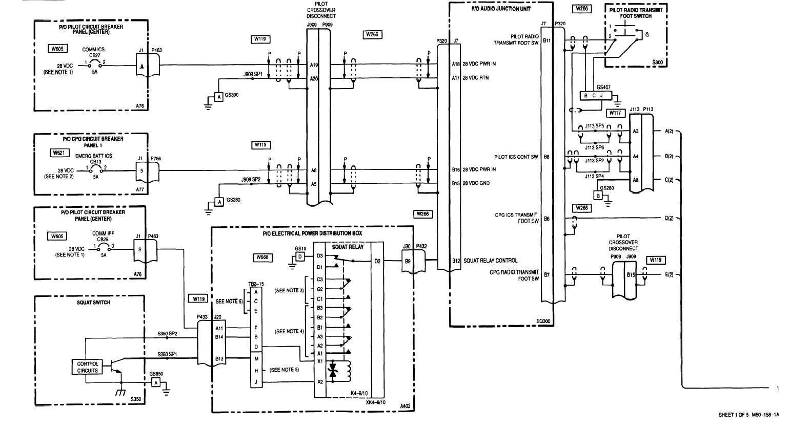 Sheet 1 Of 5 M50 158 1a