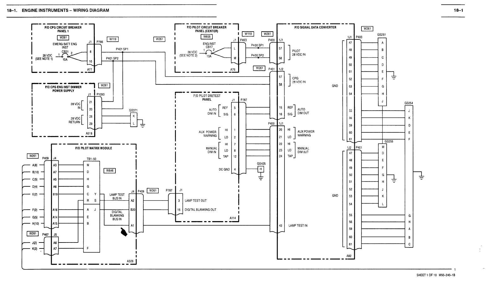 18 1 Engine Instruments Wiring Diagram