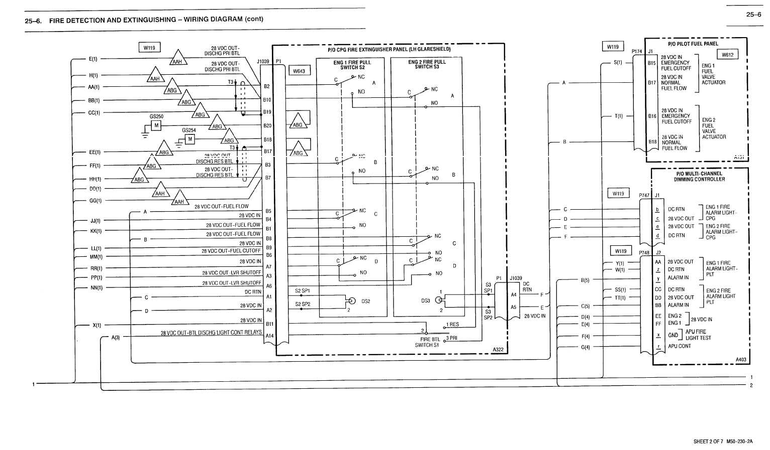 25 6 Fire Detection And Extinguishing Wiring Diagram Cont