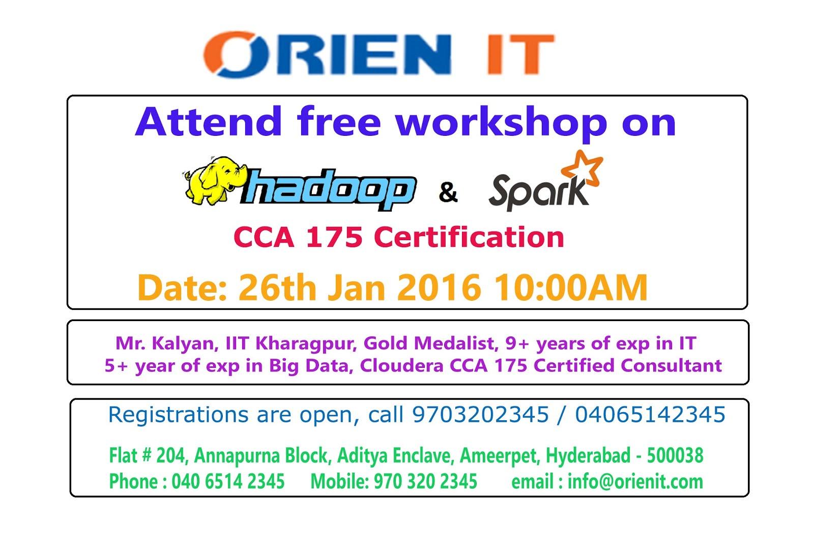 Free Workshop On Cloudera Hadoop And Spark Cca 175