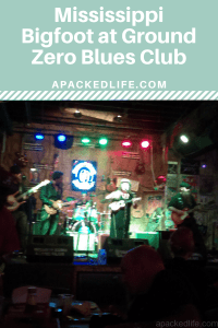 Mississippi Bigfoot on stage at Ground Zero Blues Club, Clarksdale