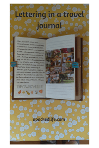 Using a simple font to create a lettering highlight in a travel journal