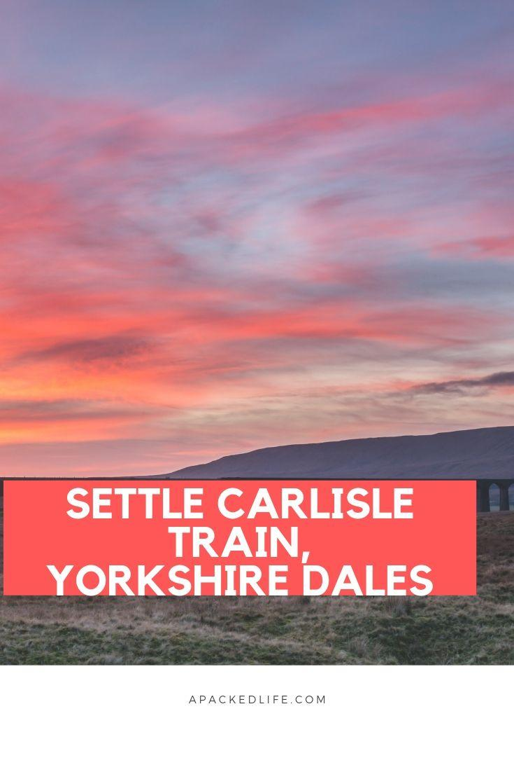 Settle Carlisle Train, Yorkshire Dales, England