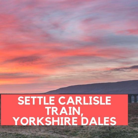 Settle Carlisle Train, Yorkshire Dales, England