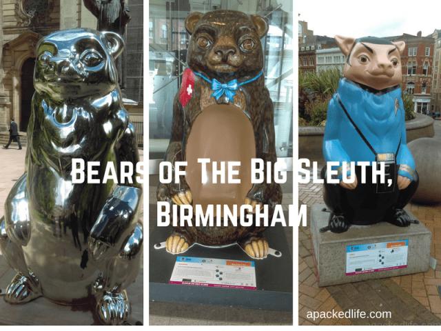Public Art Installation - The Big Sleuth - in Birmingham 2017. We got bears!