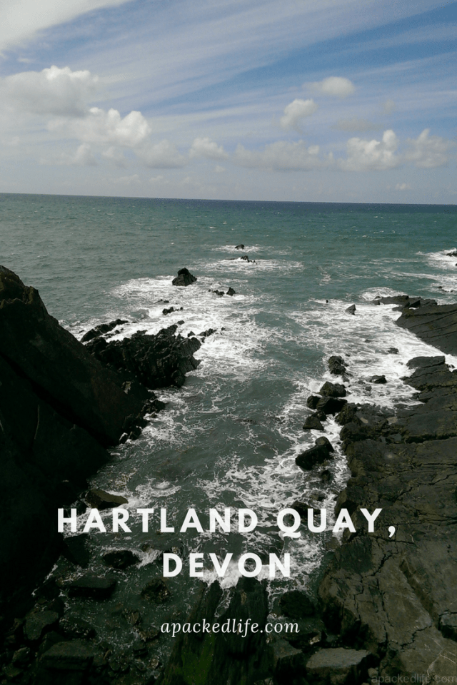Sea Fever - Hartland Quay: The wild and rugged shoreline. Hartland Point lighthouse serves to warn of the rugged coast here.