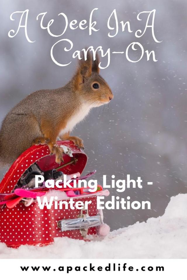 A Week In A Carry-On - Packing Light Winter Edition