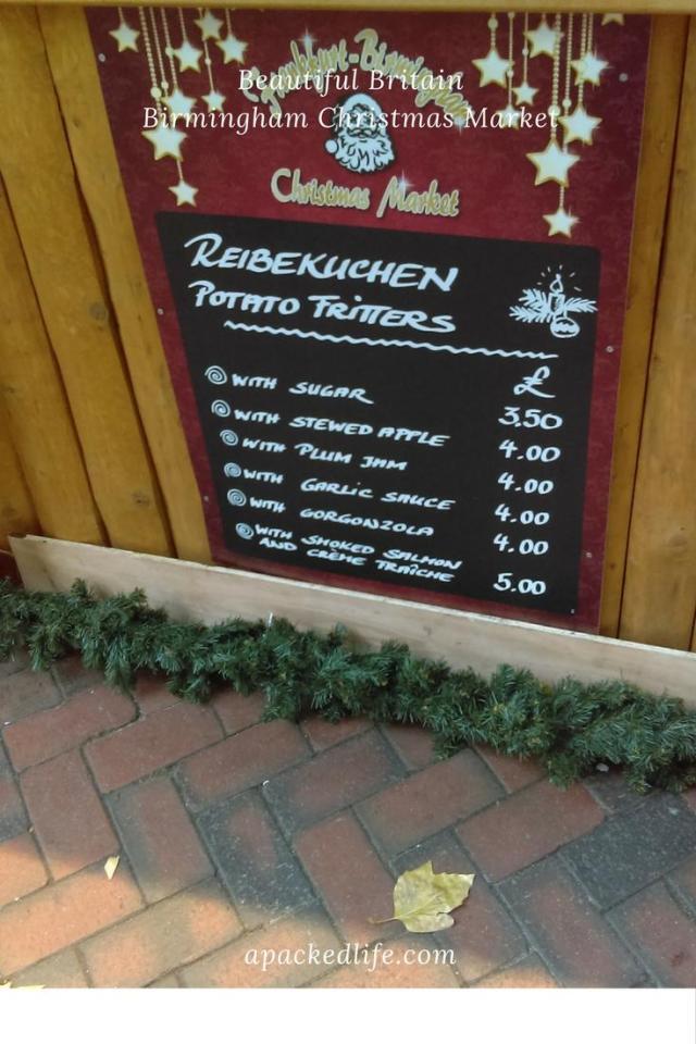 Birmingham Christmas Market - Potato Fritters