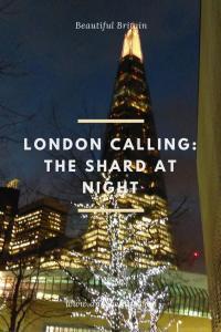 London Calling Shad Thames Shard by night