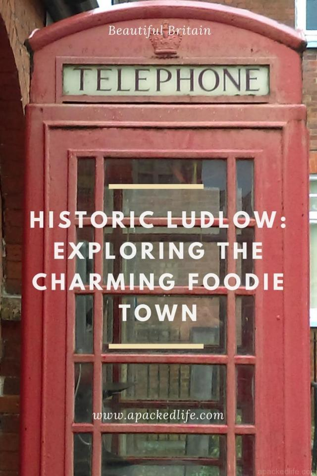 Historic Ludlow - exploring the charming foodie town - red phone box