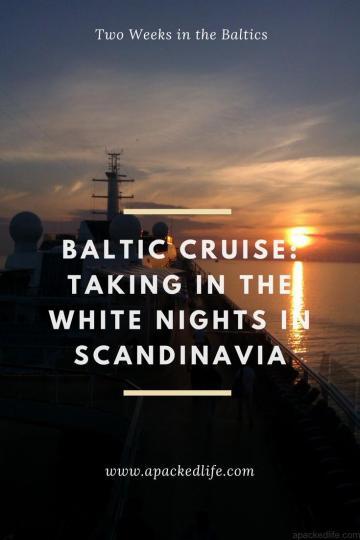 Baltic Cruise - White Nights in Scandinavia - Midnight off the coast of St Petersburg