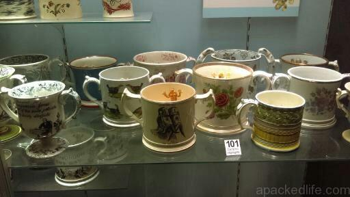 15 Things To Do In A Day In The Staffordshire Potteries - A collection of frog mugs, each holding a small amphibian, at the Potteries Museum and Art Gallery, Hanley, Stoke-on-Trent