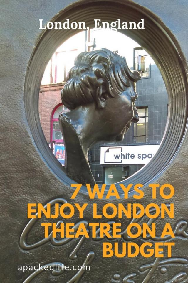 7 Ways To Enjoy London Theatre on a Budget - Agatha Christie outside the Arts Theatre, London