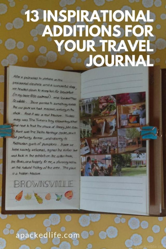 13 Inspirational Additions For Your Travel Journal: Tennessee Journal