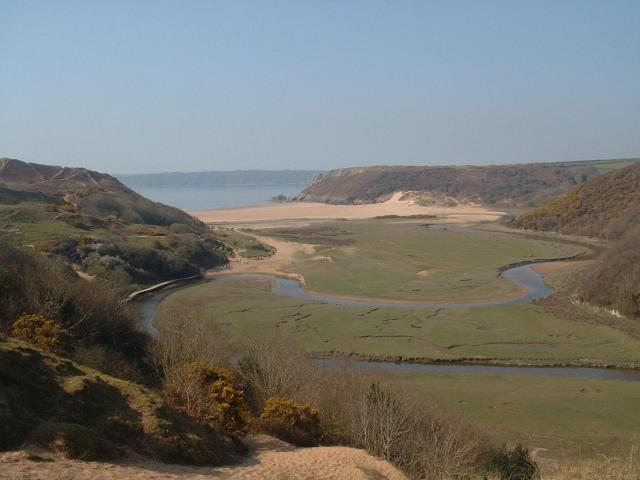 The 9 Best Beaches In Wales You Must Visit - Three Cliffs Bay