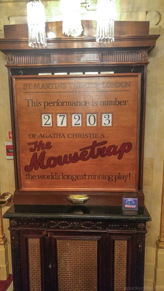 Cool or unusual things to do in England - the mousetrap counter