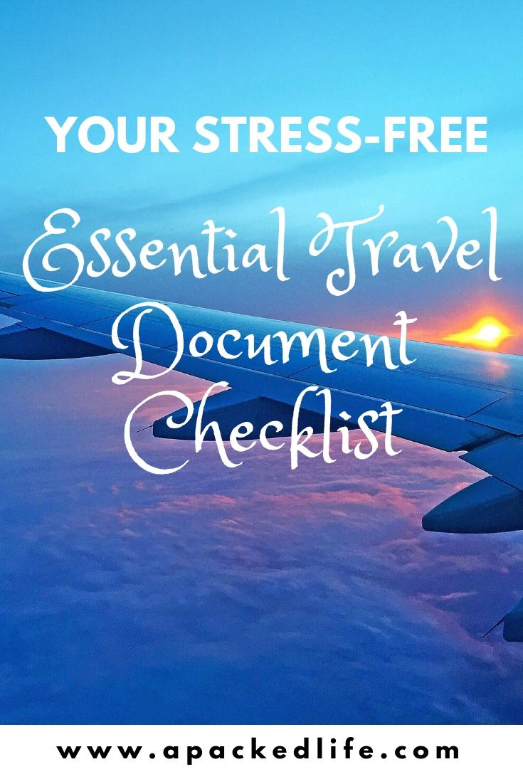 Your Stress Free Essential Travel Document Checklist