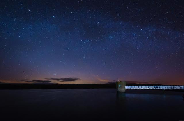 Stargazing UK - Where To See The Best Night Skies -Fontburn Reservoir in Northumberland is a popular place for fishing and walking, seen her under the stars at night
