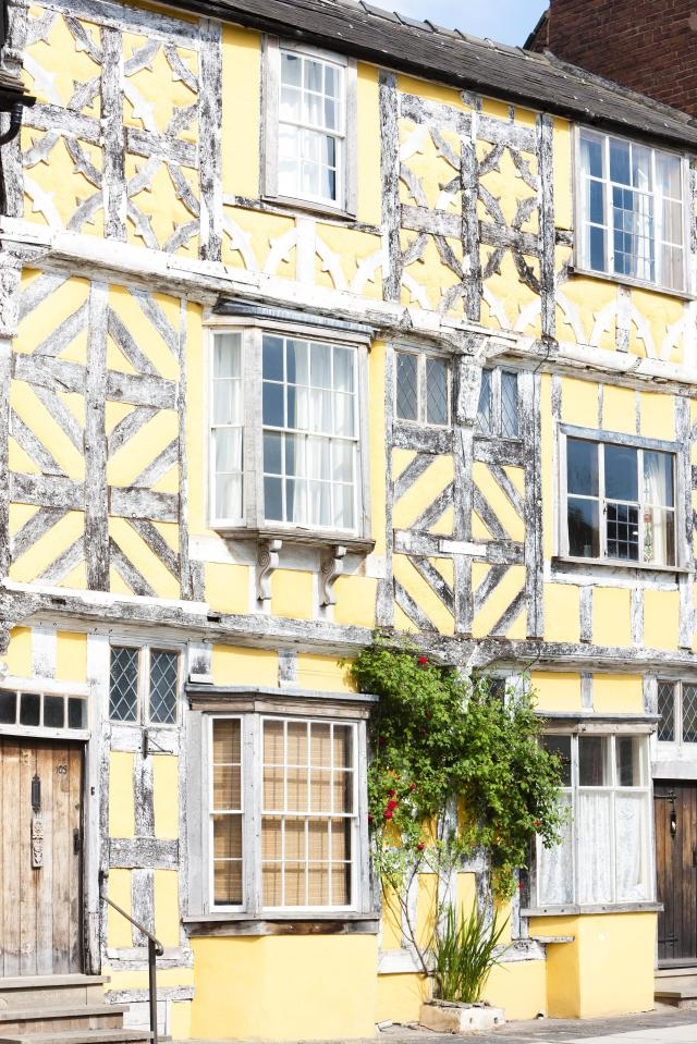 Undiscovered Places In England: Half Timbered House In Ludlow, Shropshire, England