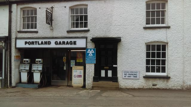 Discovering Herefordshire's Hidden Black And White Villages - tiny Portland Garage, Weobley, Herefordshire