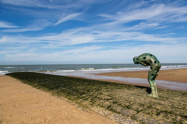 Day Trips From Brussels - Tomorrow Man Made By The Sea on the beach at Knokke-Heist
