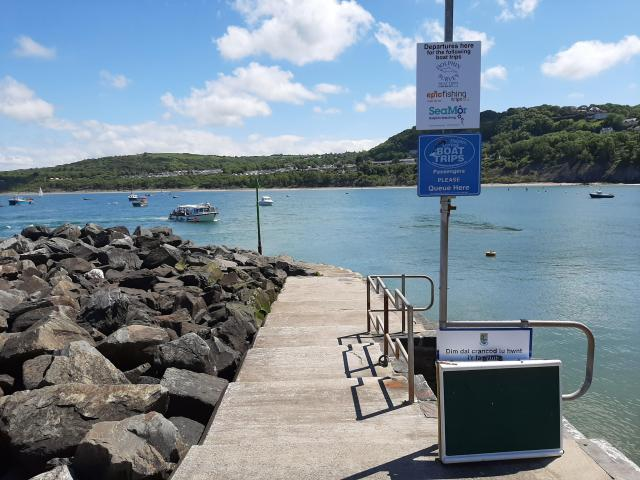 Departure Point on the Quay, Dolphin Spotting Boat Trips, New Quay, Ceridigion