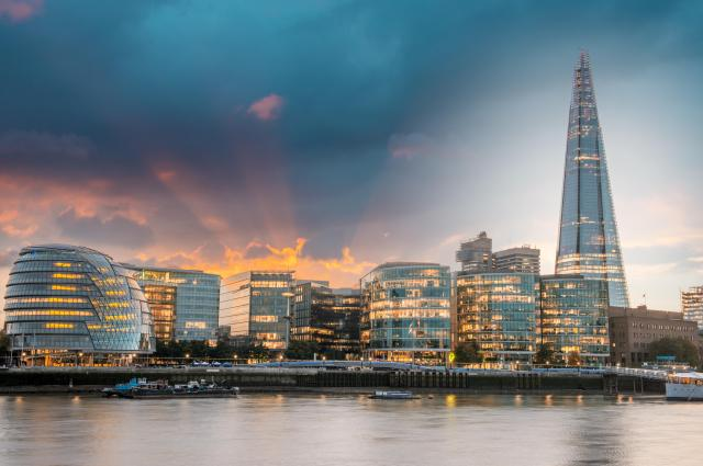 The Shard and City Hall from the River Thames, London