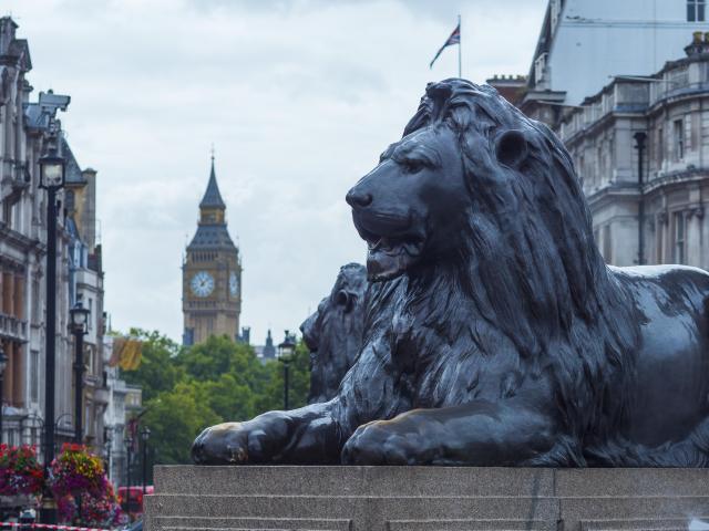 Trafalgar Square Lions, London