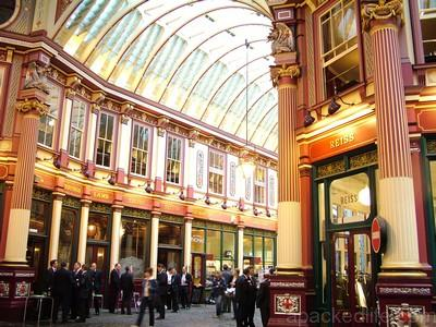 Leadenhall Market interior, London