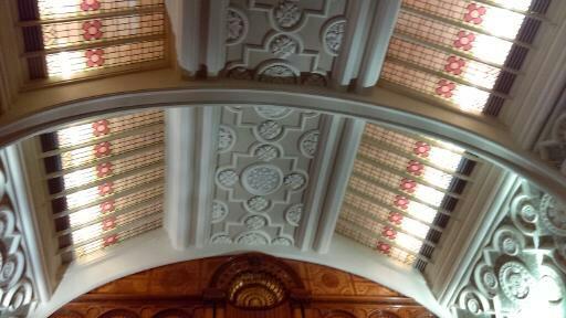 Ceiling of the Shakespeare Room, Library of Birmingham, Birmingham UK