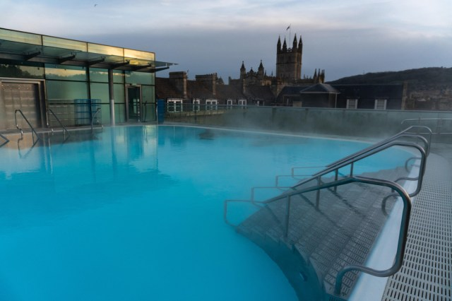 Bath, England Thermae Spa - Trailing Away