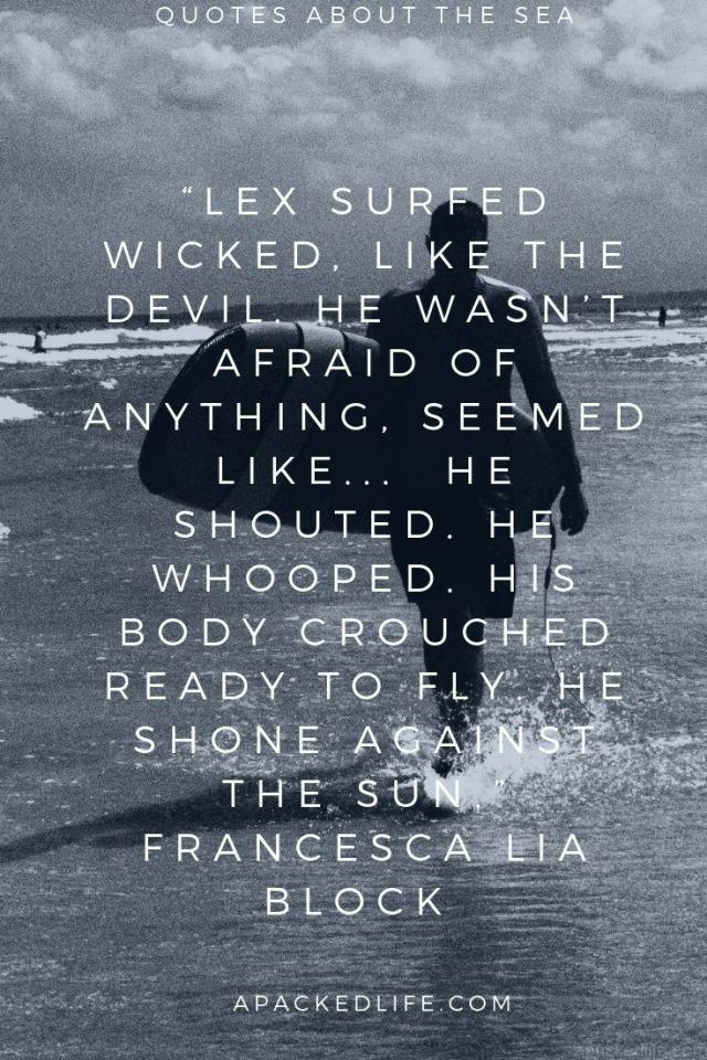 Quotes About the sea - Francesca Lia