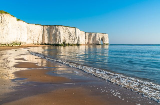 Secret England Hidden Gems: Chalk Cliffs at Margate, Kent